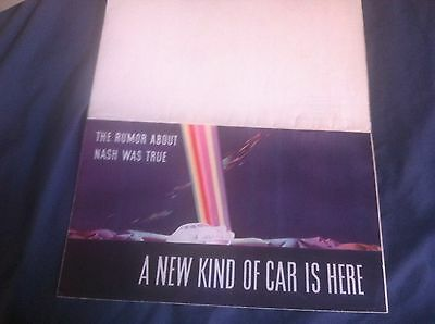 1941 Nash Ambassador and 600 Color Brochure Catalog Prospekt