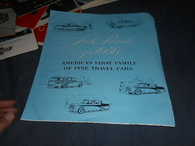 1956 AMC Nash Rambler Ambassador and Statesman Original Brochure Prospekt