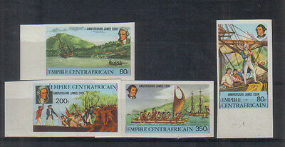 Central African Republic 1978 Captain Cook set imperf unmounted mint