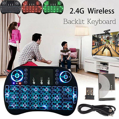 Backlit Wireless Touchpad MINI Keyboard Air Mouse For PC Pad Android TV Box PF