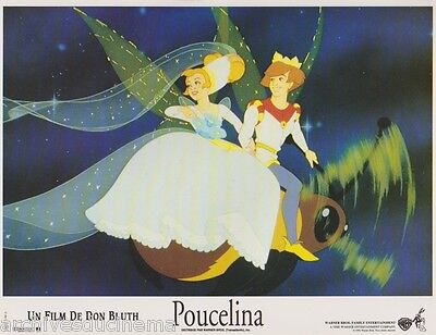 Don BLUTH 8  french Lobby Cards THUMBELINA