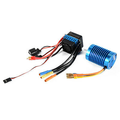 3650-4370KV 4P Sensorless Brushless Motor mit 45A ESC für 1/10 RC Car RC505