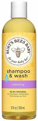 Burt's Bees Baby Bee Shampoo and Wash Calming 12 Fluid Ounces (Packaging May ...