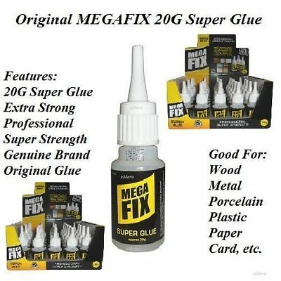New Mega Fix 20G Super Glue Extra Strong Industrial Strength Adhesive Wood Metal