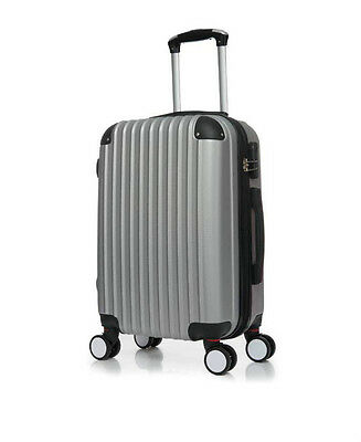 """Silver/grey 4 Wheels Large 28 """"Suitcase ABS Luggage Hard Shell Trolley"""