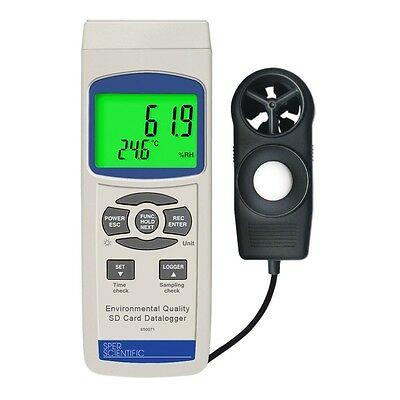 Sper Data Logging Environmental Quality Meter Wind Light Humidity Temperature