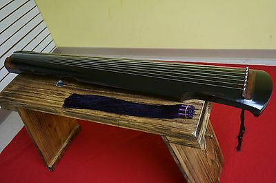 Professional Chinese Aged Fir Guqin 7-stringed Zither Instrument -- 專業古琴(老杉木/仲尼)