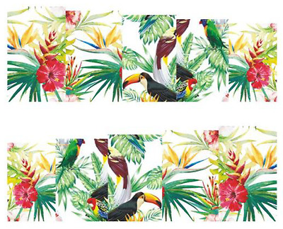 Nail Art Decals Transfers Stickers Birds Toucans HD (DB023)