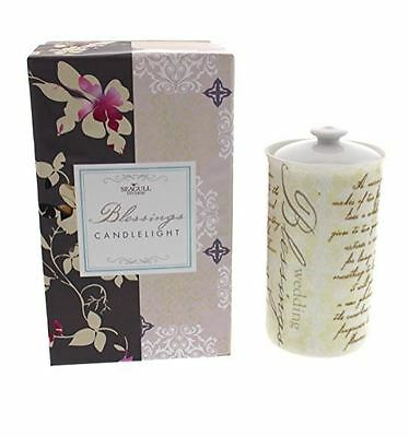 Seagull Studios Wedding Blessings Candle Light Holder, Gift Boxed