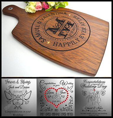 Personalised Wedding Favours Gift Bomboniere For Bride Groom Cutting Board