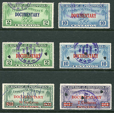 Republic Of The Philippines.  6 unchecked Internal Revenue stamps.