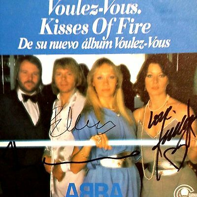 Abba Voulez Vous signed by three members