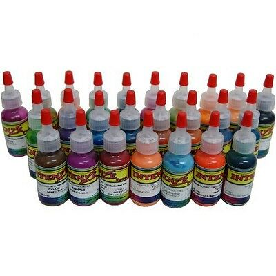 Intenze Tattoo Ink Professional 25 Color 1/2 Ounce Set 100% Authentic Free Ship