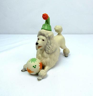 Cybis Porcelain Figurine HANDPAINTED CIRCUS PUPPY DOG POODLE WITH BALL (RARE)