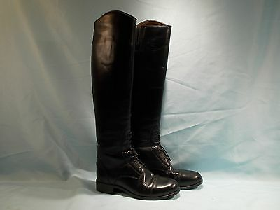 Womens ARIAT Black 55101 HERITAGE Leather Field Equestrian Riding Boots Size 6.5