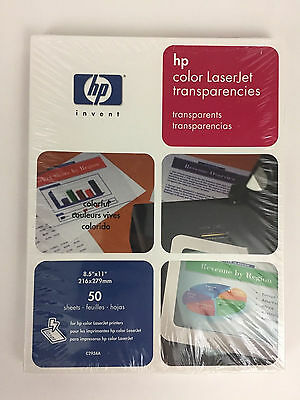HP Color LaserJet Transparency Film Sheets 50 Count 8.5 x 11 Inch
