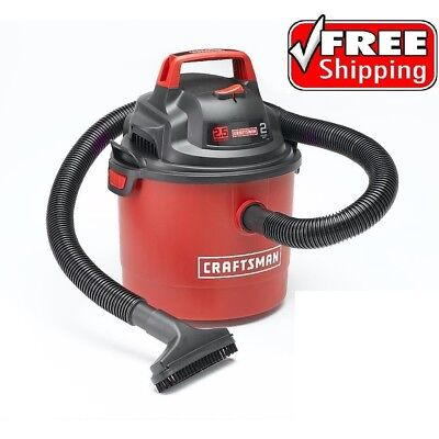 Craftsman Wet Dry Vac 2.5 Gallon Vacuum Cleaner 2 Peak HP Portable Wall Mount