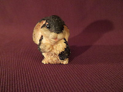 Vintage Little Bunny Rabbit Figurine - Ceramic or Resin - 2 Inches Tall