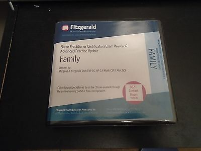 2014 Fitzgerald Family Nurse Practitioner Exam Review 16 CD set.  CDs ONLY