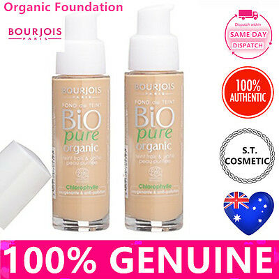 TWO Bourjois Bio Detox Organic Foundation + Gift Choose ur Color MADE IN FRANCE