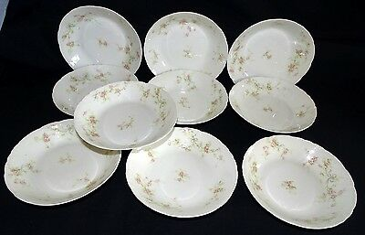 Theodore Haviland Limoges France Marie Schleiger #161a 10 Cereal Bowls 6 1/4""