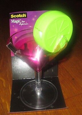 3M Scotch COSMO Martini Glass Magic Tape Dispenser NEW