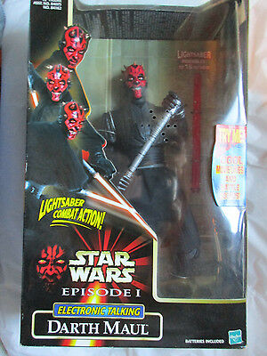 "$~Star Wars Episode I Darth Maul Electronic Talking 12"" Figure~New~LBDWG"
