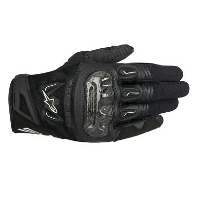 Alpinestars Mens SMX-2 Air Carbon V2 Gloves - Black Road Motorcycle Street Tour