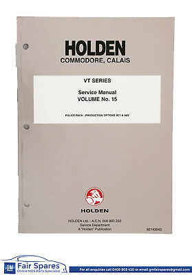Genuine Holden Commodore VT SS Police Pack Service Manual Options 9C1 & A8V NOS