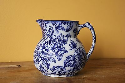 Keeling & Co Losol Ware, Cavendish Cobalt flow blue jug, pitcher.