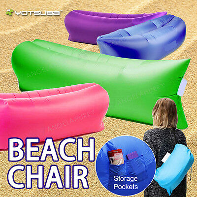 Outdoor Foldable Lounge Camping Zero Gravity Beach Chair Sunbathing Ground Bed