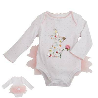 Mud Pie Easter Bunny Tutu Crawler  0-3 or 3-6 Months - DISCONTINUED