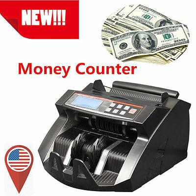 Top! Money Bill Cash Counter Bank Machine Currency Counting Uv & Mg Counterfei &