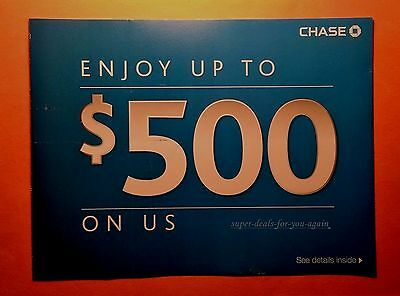 NoW! Fast SHIP/ Delivery ~ Chase $500 Bonus Offer: $300 Checking>$200 Savings!