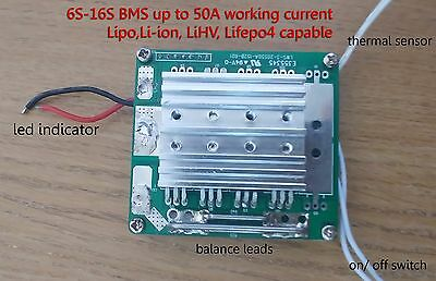 6S-16S 24V-60V BMS/ PCM For Electric skateboards, bicycles, scooters up to 50A