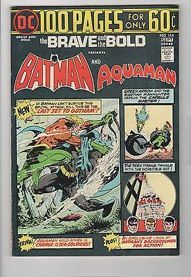 BRAVE and the BOLD no. 114 100 Pages Batman Very Fine- 7.5