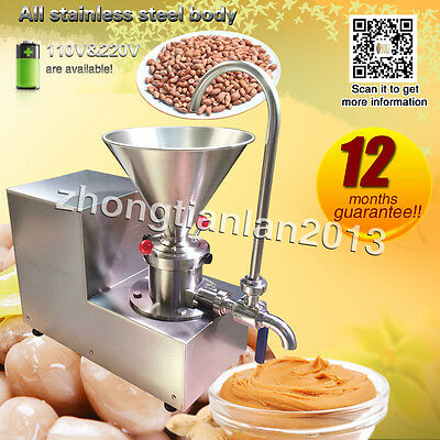 12 months guarantee,peanut butter machine for nut,Sesame,with DHL shipping