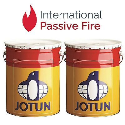 2 x Jotun 60WB Waterbased Intumescent Fire Proof Steel Paint - 5Ltrs Tins