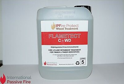 Flametect C-WD 5Litre Clear Flame Retardant Timber Treatment -