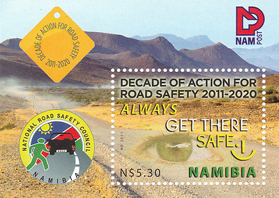 NAMIBIA - 2011 - Miniature Sheet: Decade of Action for Road Safety. Mint NH