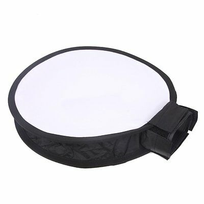 30cm Mini Portable Round On-camera Flash Diffuser Softbox for Flash Speedlite AU