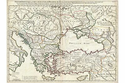Map Of Eastern Roman Empire Under Constantine Antique Map 1715