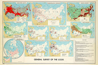 CIA Map of USSR; Central Intelligence Agency Map, 1961