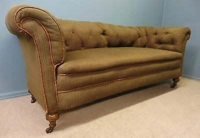 LARGE ANTIQUE VICTORIAN CHESTERFIELD SOFA  circa 1880