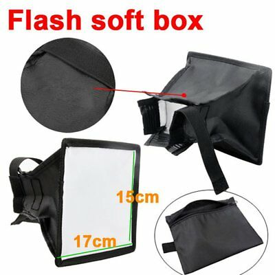 Universal Portable Flash Diffuser Softbox 15 x 17cm for Camera Speedlight AU