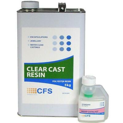 5kg Water Clear Casting Polyester Resin with Hardener - Arts Crafts Jewellery