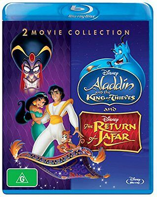 ALADDIN & THE KING OF THIEVES / RETURN OF JAFAR   - Blu Ray - Sealed Region B