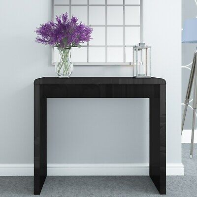 Tiffany Black High Gloss Narrow Console Table TIFF013