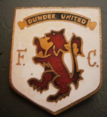 Dundee United Fc Shield Type Club Crest Football Brooch Pin Badge