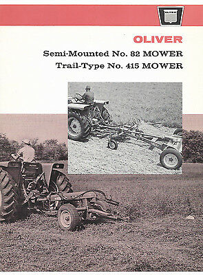 1964 Oliver Semi-Mounted No. 82 Trail-Type No. 415 Mower Brochure
